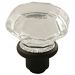 Octagonal Glass Door Knob Set in Oil Rubbed Bronze