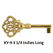 KY-9 Brass Skeleton Key
