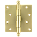 Heavy Duty Plated Steel Door Hinge With Ball Tips