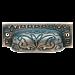 Antiqued Cast Brass Bin or Cupboard Pull