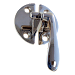 Nickel Flush Cabinet or Cupboard Lever Latch
