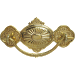 Eastlake Stamped Brass Drawer Pull