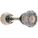 Fluted Glass Door Knob in Nickel