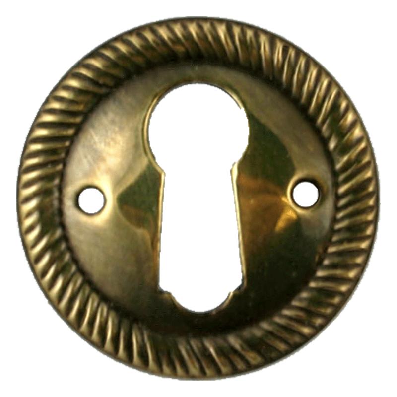 Aged Brass Keyhole Escutcheon  sc 1 st  Kennedy Hardware & Flush Mount Cabinet Door Lock u0026 Skeleton Key pezcame.com