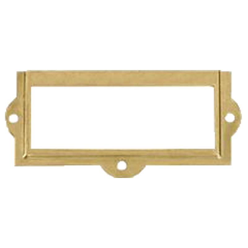 Brass File Card Frame