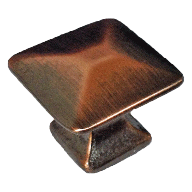 Antique Copper Mission Pyramid Knob
