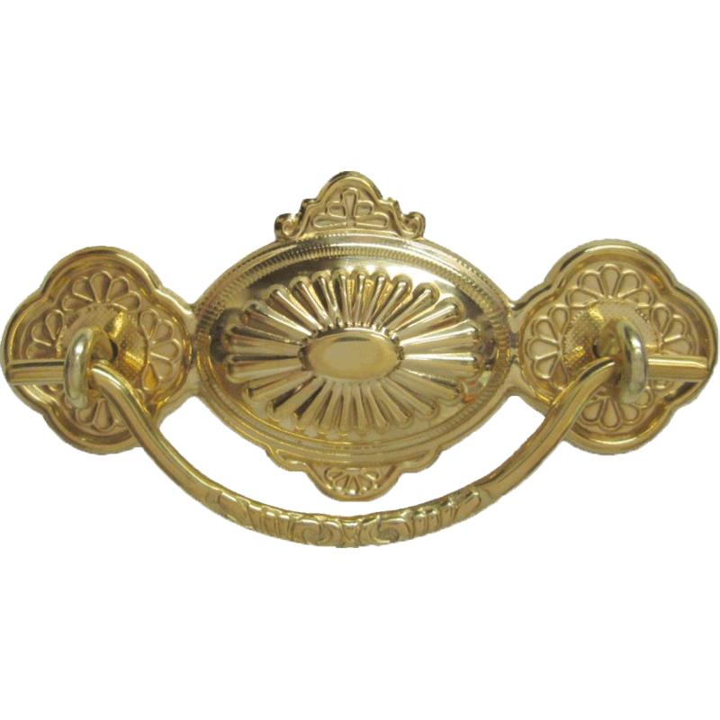 eastlake stamped brass drawer pull