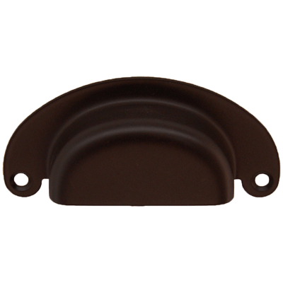 Half Moon Heavy Brass Bin Pull in Oil Rubbed Bronze