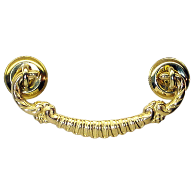Ornate Brass Drawer Bail Pull