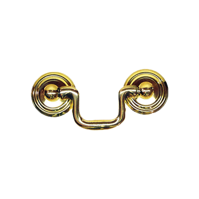 Small Brass Swan Neck Drawer Bail Pull