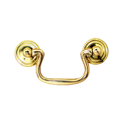 Plain Cast Brass Swan Neck Drawer Bail Pull