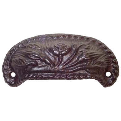 Flower Cast Iron Furniture & Cabinet Bin Pull