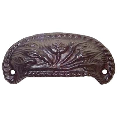 Flower Cast Iron Furniture & Cabinet Bin Pull