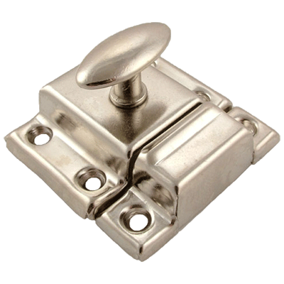 Nickel Plated Small Stamped Cabinet Latch