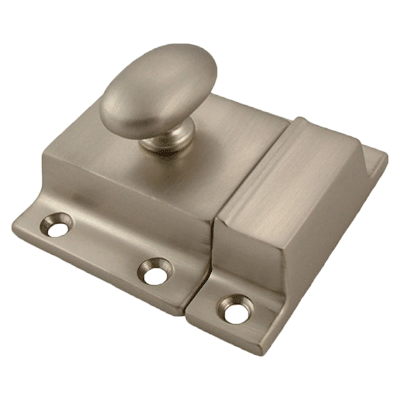 Large Classic Brushed Nickel Cabinet Latch
