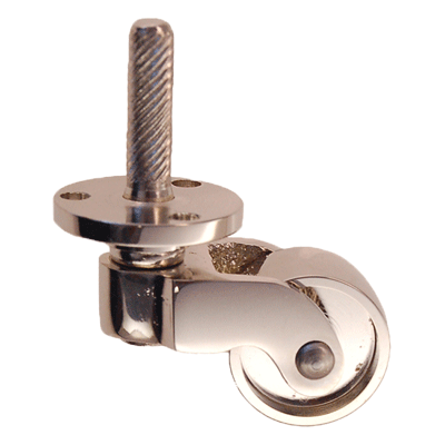 Nickel Furniture Caster with Plate