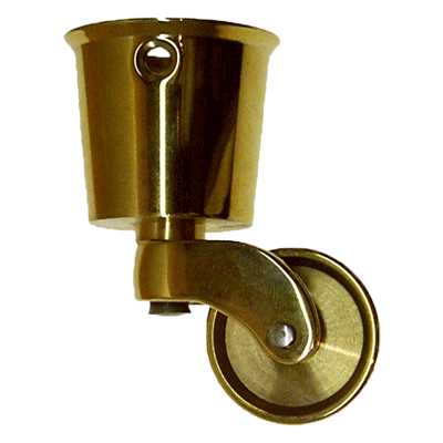 Large Solid Brass Round Cup Caster