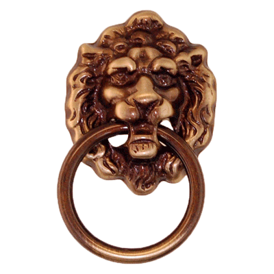 Antique Lion Face Ring Pull