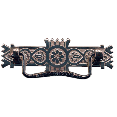 Nickel Victorian Eastlake Drawer Pull