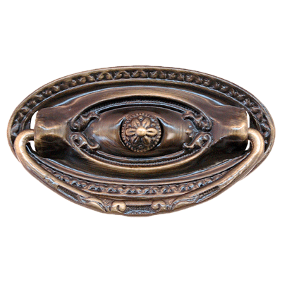 Large Colonial Revival Antique Brass Pull