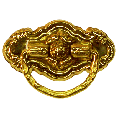 Ornate Colonial Revival Brass Pull