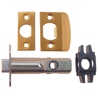 Lacquered Brass Passage Door Latch Set