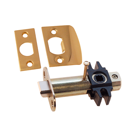 Lacquered Brass Privacy Door Latch Set