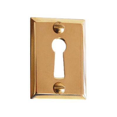 Heavy Stamped Brass Door Keyhole Cover