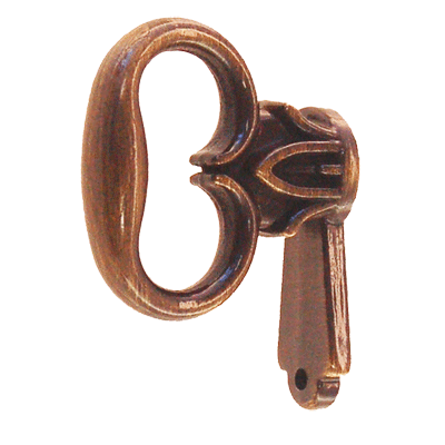 Antiqued Mock Key for Cabinet Doors
