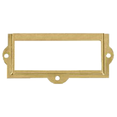 Brass File Card Frame