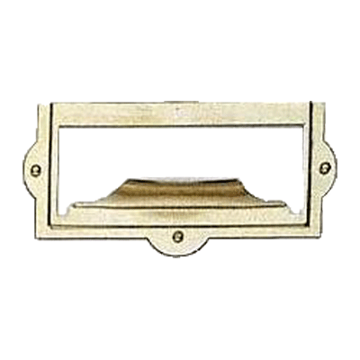 Brass File Card Frame with Pull