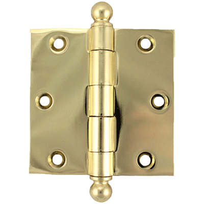 "3-1/2"" Heavy Duty Plated Steel Door Hinge With Ball Tips"