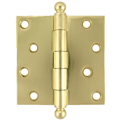 "4"" Heavy Duty Plated Steel Door Hinge With Ball Tips"