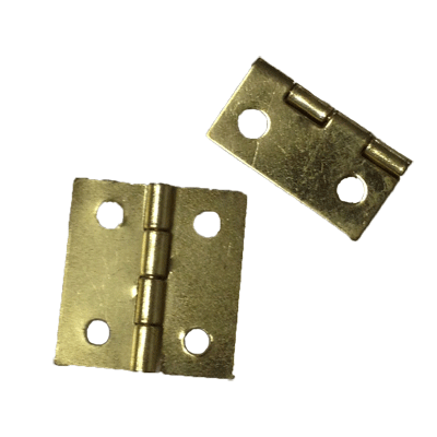 Brass Plated Steel Small Jewelry Box Hinge