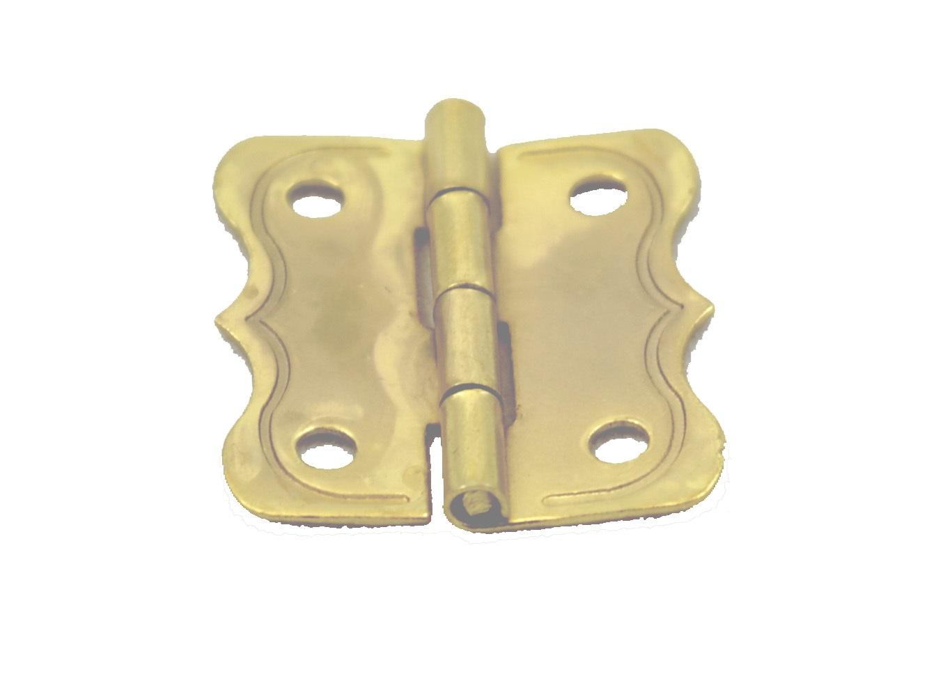 Fancy Brass Plated Steel Small Jewelry Box Hinge