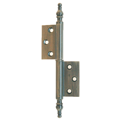 "Left ""flag"" hinge with Steeple Tips"