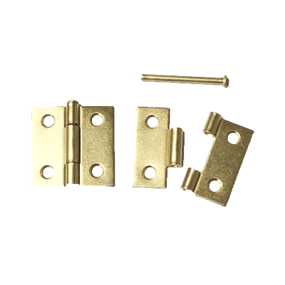 Brass Removable Pin Butt Hinge Pair
