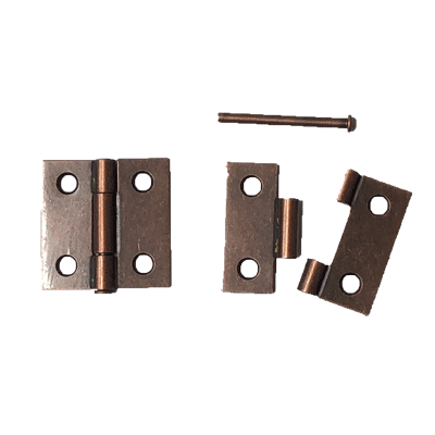 Antique Copper Removable Pin Butt Hinge Pair