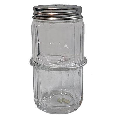 Clear Colonial Pattern Hoosier Spice Jar