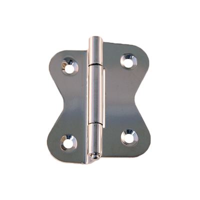 Large Nickel Offset Hoosier Butterfly Hinge