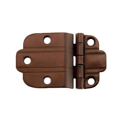 Oil Rubbed Bronze Art Deco Offset Hinge Pair