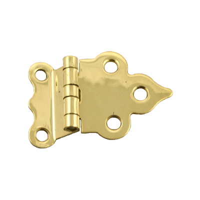 Boone or Sellers Offset Brass Cabinet Hinge