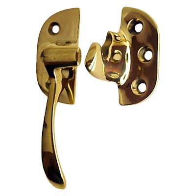 Cast Brass Left Ice Box Lever Latch