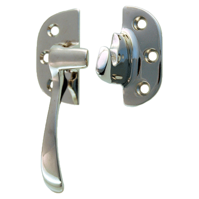 Cast Polished Nickel Left Ice Box Lever Latch
