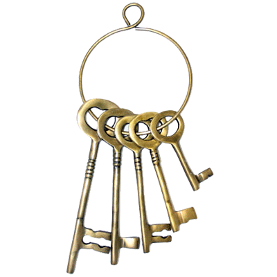 Fancy Cast Brass Jailers Key Set
