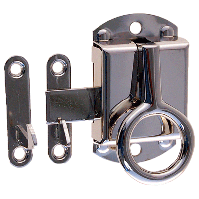 Nickel Right Wilson Cabinet Ring Latch