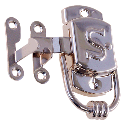 "Nickel Right Sellers ""S"" Cabinet Latch"
