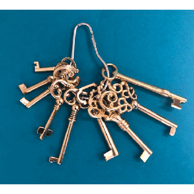Solid Brass Skeleton Key Set