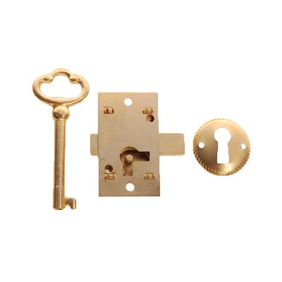 Small Flush Mount Cabinet Door Lock &  Skeleton Key