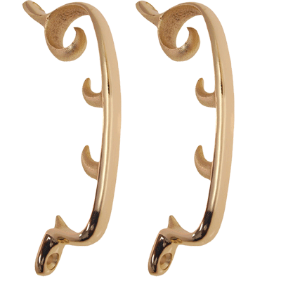 Brass Plated Morris Chair Brackets